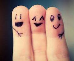 Drie beste vinger vrienden