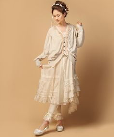 mori girl -- like the lacy bloomers/leggings - This style reminds me so much of the 1980's with all the lace.  I love it