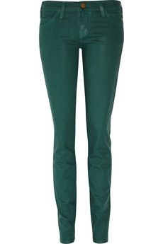 Current/Elliot coated-denim skinnies! I love all things green. I must hunt these down.