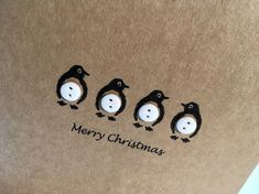 Diy christmas cards 575264552403212979 - Set of 12 Penguin Christmas Cards – Buttons Source by Christmas Button Crafts, Cute Christmas Cards, Christmas Buttons, Printable Christmas Cards, Xmas Crafts, Handmade Christmas, Christmas Crafts, Christmas Parties, Gold Christmas