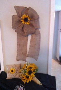Front of church decor/ pew bows and ringg pillow :  wedding bouquet ceremony…