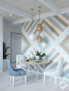 Dining room wall. I'd love to do this with paint, but that would be a cluster.