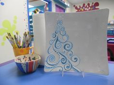 Winter Wonderland Platter by GlazedConfused on Etsy, $34.00