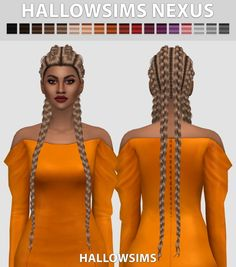 Nexus hair conversion at Hallow Sims via Sims 4 Updates  Check more at http://sims4updates.net/hairstyles/nexus-hair-conversion-at-hallow-sims/