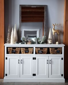 Ana White | Entryway Console with Open Shelves - Double Width - DIY Projects