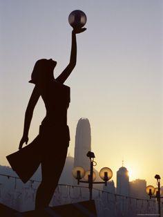 The Hong Kong Film Awards Statue, Avenue of Stars, Tsim Sha Tsui, Kowloon, Hong Kong, China