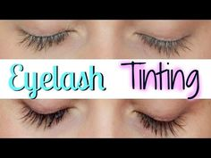 EYELASH TINTING AT HOME - YouTube  TIP take a cotton pad, cut it to the size of your eye, wet it, and lather the back with Vaseline! So easy!