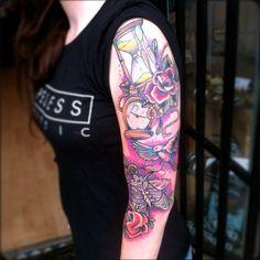 Cool Half Sleeve Tattoos for Girls