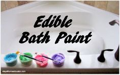 Edible Bath Paint Using Whipped Cream