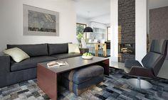 Zdjęcie projektu Endo drewniany BSE1076 Sweden House, Home Projects, Corner Desk, House Plans, Couch, Furniture, Design, Home Decor, Houses