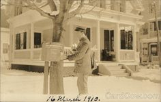 Mail Being Delivered in Franklin, Mass. Photo Postcards, Don't Forget, Mad, Outdoor, Outdoors, Outdoor Games, The Great Outdoors