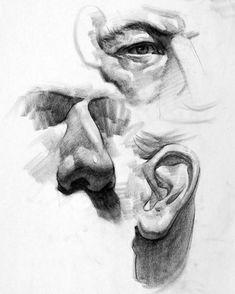 Facials 313844667784679319 - ArtStation – Facial Feature Studies, Stan Prokopenko Source by foxterr Academic Drawing, Drawing Studies, Drawing Skills, Drawing Techniques, Life Drawing, Figure Drawing, Drawing Art, Anatomy Sketches, Anatomy Drawing
