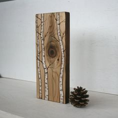 Árboles rústico moderno leña de abedul por TwigsandBlossoms