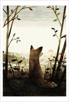"Jon Klassen, cover illustration for the book ""Pax"" by Sara Pennypacker"