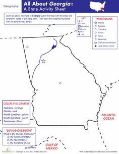 Greetings From Georgia Maps Bless Your Pinterest Georgia - Georgia map regions outlined