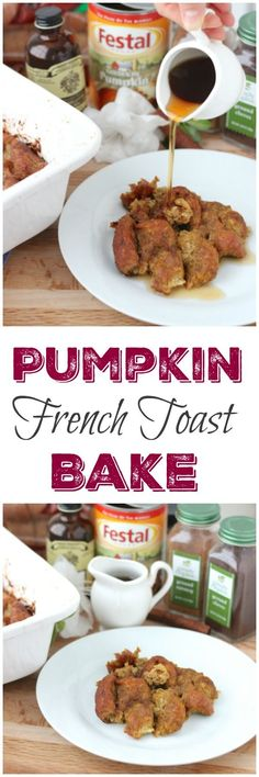 This Pumpkin French Toast Bake is a yummy, seasonal breakfast casserole that has all the deliciousness of french toast, but it's incredibly easy to make and feeds a crowd.
