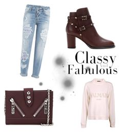 """""""Fame Time"""" by v-atanasovaa ❤ liked on Polyvore featuring Kenzo, Valentino, Balmain and Dsquared2"""