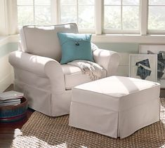 PB Comfort Roll Grand Armchair Slipcover, s, Basketweave Ivory - Chair Slipcovers - Chair Covers - Furniture Covers - Pottery Barn Armchair Slipcover, Furniture Slipcovers, Furniture Covers, Swivel Chair, Chair Covers, Loveseat Slipcovers, Pottery Barn, Sunbrella Outdoor Furniture, My Living Room