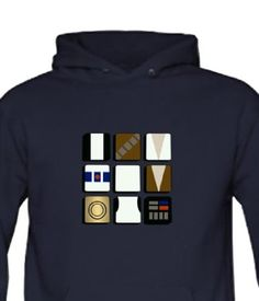 97533cf90 STAR WARS MINIMALIST SQUARES- Sci-fi inpsired Mens Hoody, Hooded top: Amazon .co.uk: Clothing