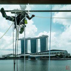#Singapore #WindowCleaner #FullertonBayHotel #MarinaBaySandsHotel