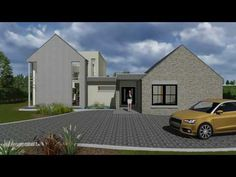 A storey and a half version of our design Home Design Plans, Plan Design, Irish Decor, Bungalow House Design, Modern Homes, Next At Home, My Dream Home, Modern Farmhouse, Claire