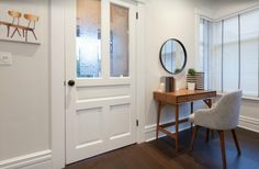Don't forget to stage the entryway when you're selling or renting. Ideally you want a small table, a mirror, and somewhere to hang coats. Work with what you've got and decide what makes sense based on your space.