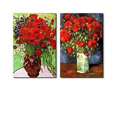 Famous Oil Painting Reproduction/ Replica Set of 2 - Vase... https://www.amazon.com/dp/B00SV57D06/ref=cm_sw_r_pi_dp_x_Qi-oybQX7SZ3D