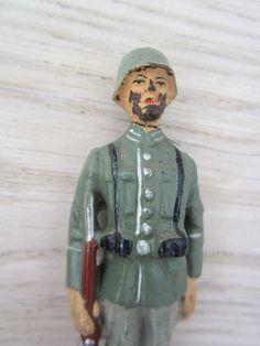 Wachsoldat stehend Wehrmacht 7,5 cm-Serie (*** schön ***) Elastolin - Lineol | eBay