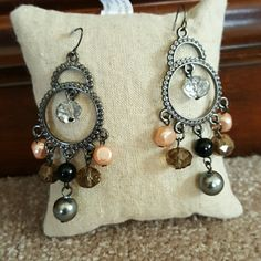 "Chandelier Earrings Beautiful  fun Earrings! Never worn. 3"" long Jewelry Earrings"