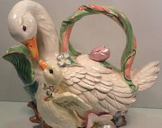 Vintage Fitz and Floyd Classic Duck Tea Pots
