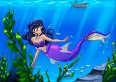 Aphmau Mermaid by NancySauria on DeviantArt Aphmau Mermaid, Studio Ghibli, Aphmau Characters, Minecraft Characters, Aphmau Wallpaper, Aphmau Pictures, Aphmau Youtube, Aphmau Memes, Aphmau And Aaron