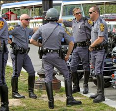 Several black tall boots. Cop Uniform, Police Uniforms, Men In Uniform, Police Officer, Cute Country Boys, Sexy Military Men, Hot Cops, Police Life, Well Dressed Men