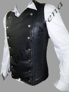 Leather Arena Brings Hand Made All Men's Genuine Leather Strong Steel Boned Steam punk Gothic Vest/Corset. This Vest is made of best quality soft Leather to hand-construct this Victorian style waistcoat corset which is perfect for evening wear. | eBay!