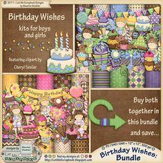 Digital Scrapbooking Studio Birthday Wishes
