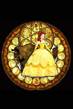 Stain glass beauty and the beast- so pretty (no website attached)