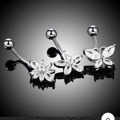 Σκουλαρίκια αφαλου υποαλλεργικά με πεταλούδες διαμάντια svarowski κρύσταλλα Belly Rings, Belly Button Rings, Metal Jewelry, Body Jewelry, Bell Button, Belly Button Piercing, Types Of Metal, Ear Piercings, Steel