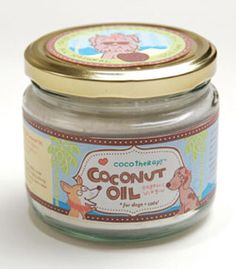 Coconut Oil for Dogs- Coco Therapy. Mighty Mite Dog Gear. Feed them a little daily to clear skin and coat, reduce bad breath, deodorize, balance insulin and thyroid levels, and reduce arthritis symptoms. All natural is the way to go!