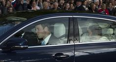 A grinning Prince William sat in the front of the car as he was driven from his apartment at Kensington Palace to St James's Palace for his baby son's christening  Read more: http://www.dailymail.co.uk/news/article-2472989/Prince-George-christening-Well-wishers-camp-outside-St-James-Palace.html#ixzz2iYkNb6Bz  Follow us: @MailOnline on Twitter | DailyMail on Facebook