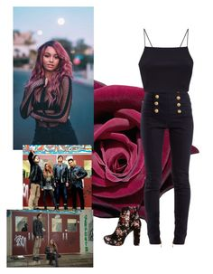 """""""Toni Topaz 2018"""" by ravenclaw-blue on Polyvore featuring Balmain, Charlotte Russe and riverdale"""