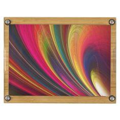 Fractal Art 4 Rectangular Cheese Board