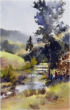 Alvaro Castagnet Painter ~ Highly Commended In Watercolour ~ Open Section Art In The Village Aevum . Art Aquarelle, Watercolor Trees, Watercolor Artists, Watercolor Techniques, Watercolor Landscape, Watercolour Painting, Painting Techniques, Landscape Art, Landscape Paintings