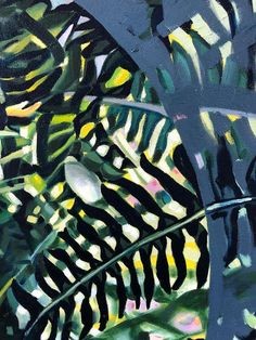 Claudia Gurwitz: Ingress: fine art | StateoftheART South African Art, Office Art, Canvas Size, Original Artwork, Plant Leaves, Abstract, Gallery, Artist, Painting