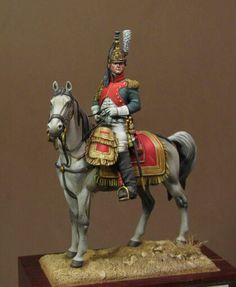 Soldiers on horses - Virtual Museum of Historical Miniatures Empire, Dragons, Old Warrior, Warrior Paint, Military Action Figures, Military Modelling, Virtual Museum, French Army, Military Diorama