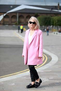 60 Inspiring Street-Style Snaps From LFW #refinery29  http://www.refinery29.com/london-fashion-week/street-style#slide-17  Pink hair and a pink coat to match. We're in heaven....