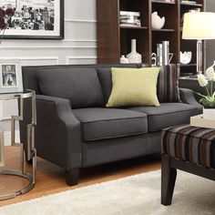 Broadway Dark Sloped Track Loveseat by Inspire Q