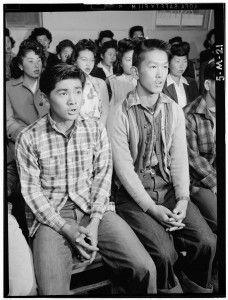 Manzanar Choir by Ansel Adams Japanese Internment Farewell to Manzanar, 1943