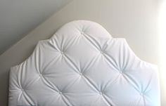 Designed by Chance: White, Leather, Tufted, Headboard