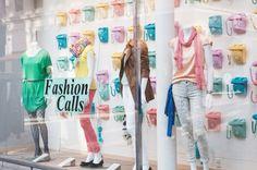 Fun window display! an I love the green dress and dotti tights :)