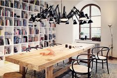 Lighting, reading and a great big dining table