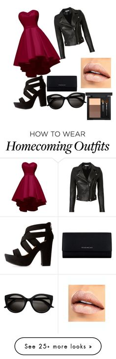 """Rebell"" by celesteannewebb on Polyvore featuring IRO, Bamboo, Givenchy and MAC Cosmetics"